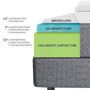 GhostBed Mattress-Queen 11 Inch-Cooling Gel Memory Foam-Mattress